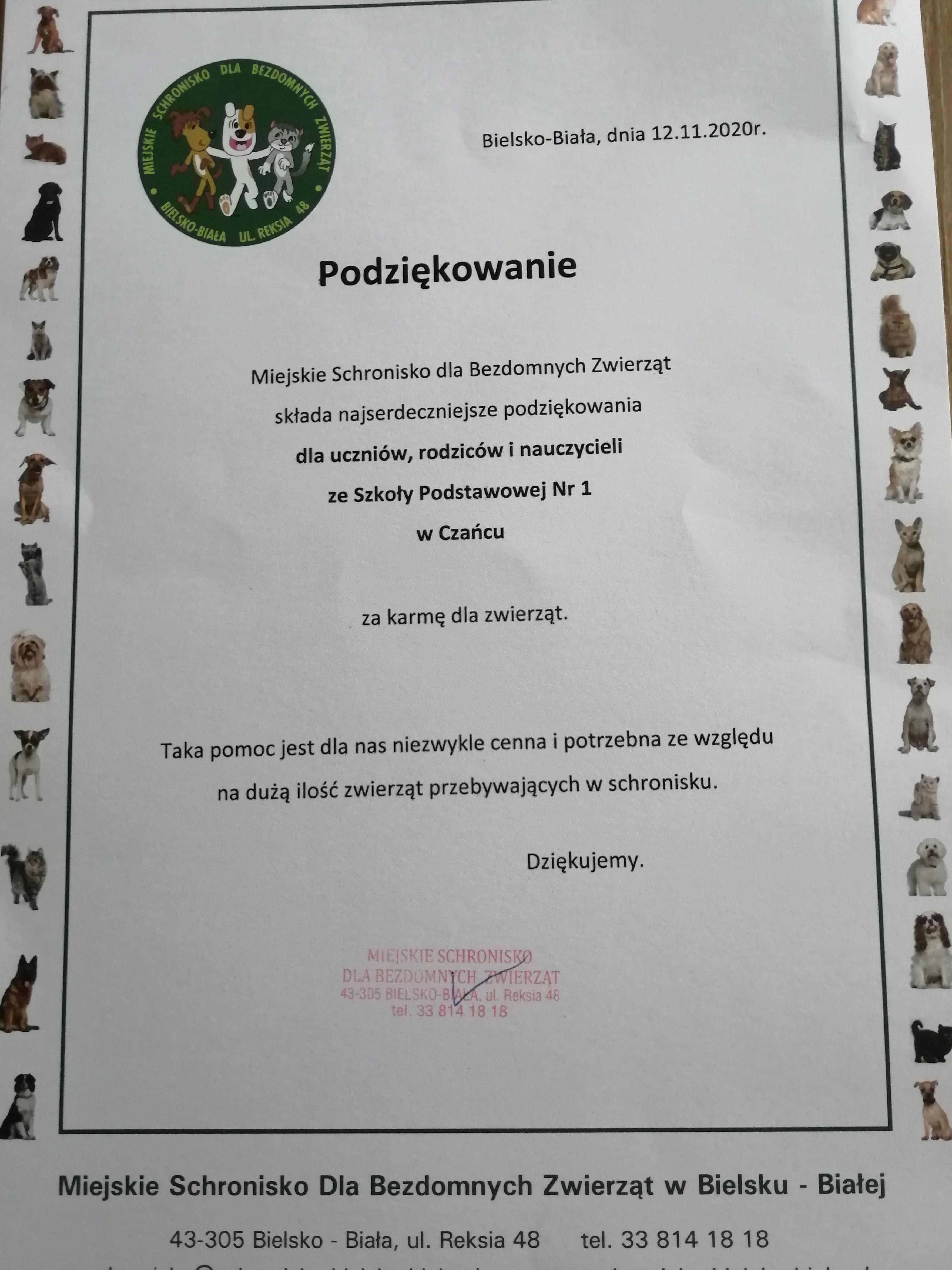 Podz.-SCHRONISKO-2020